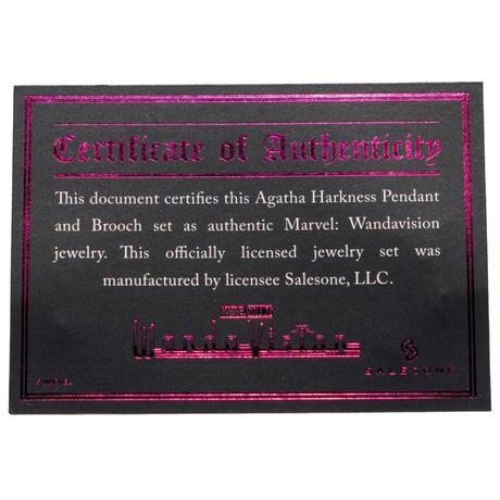 【※ご予約商品・USA直輸入】MARVEL ワンダヴィジョン アガサ ハークネス ネックレス ブローチ レプリカ 魔女 アクセサリー マーベル  海外ドラマ ディズニープラス