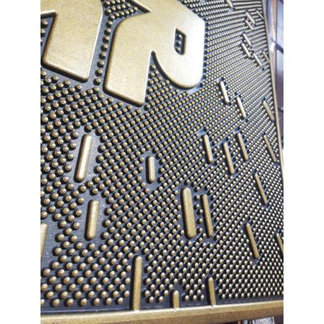 【USA直輸入】STARWARS スターウォーズ ゴールド & ブラック ロゴ 柄 ラバー マット アメ雑 インテリア 玄関マット ドアマット Star Wars