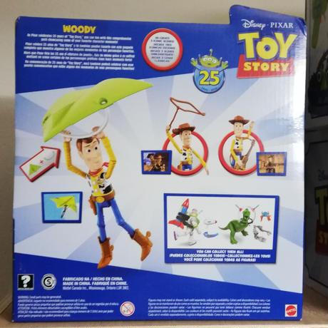 【USA直輸入】DISNEY トイストーリー 25周年アニバーサリー ウッディ 3アイテム付き アクション フィギュア  Toy Story  ディズニー ピクサー 投げ輪 カイト ギター