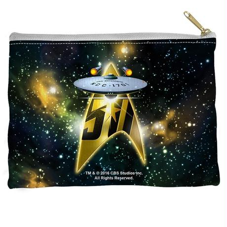【USA直輸入】スタートレック 50周年記念 エンタープライズ フラット ポーチ スタトレ  Star Trek  50th Enterprise ペンポーチ