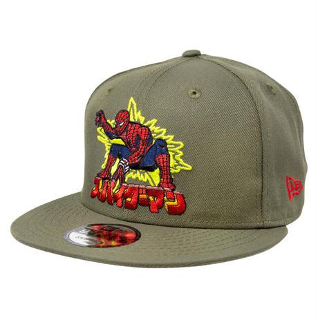 【USA直輸入】MARVEL スパイダーマン 東映 スパイダーマッ 特撮  ロゴ 9Fifty キャップ  ニューエラ NEWERA  帽子 マーベル Spiderman  80th