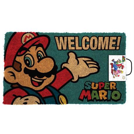 【USA直輸入】ニンテンドー スーパーマリオ Mario ウェルカム ドアマット マット  任天堂 ゲーム GAME
