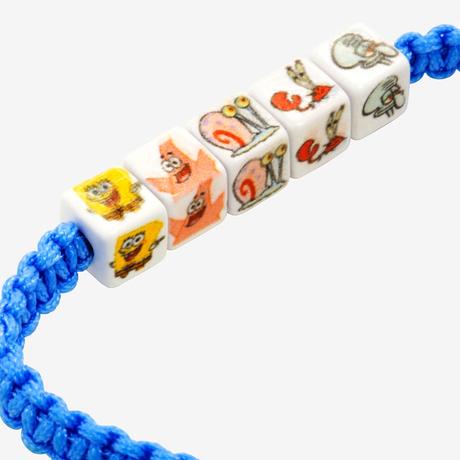 【USA直輸入】スポンジボブ ビーズ ブレスレット Beaded Pull Bracelet イカルド パトリック スポンジ・ボブ SpongeBob ニコロデオン
