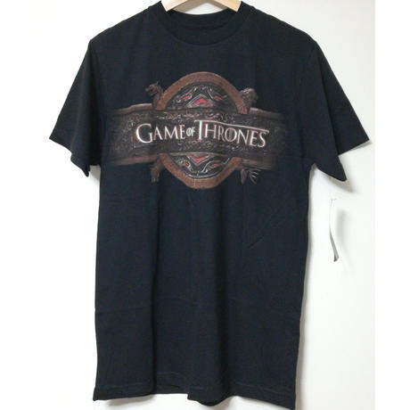 【USA直輸入】ゲームオブスローンズ ロゴ ブラック Tシャツ Mサイズ ゲーム・オブ・スローンズ GOT Game Of Thrones  ゲースロ