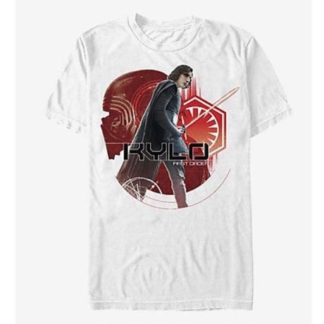 【USA直輸入】STARWARS カイロレン KYLO FIRST ORDER 白地 Tシャツ Sサイズ スターウォーズ