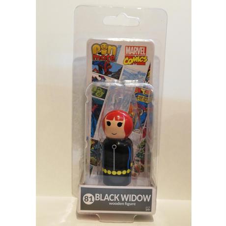 【USA直輸入】MARVEL Pin Mate ピン メイト 木製 フィギュア マーベル コミックス ブラックウィドウ Black Widow  81 2インチ Pin Mates ブラックウィドー