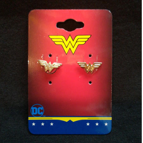 【USA直輸入】DC ワンダーウーマン ロゴ ダイカット ピアス アクセサリー DCコミックス  ジャスティスリーグ