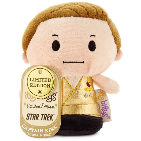 【USA直輸入】スタートレック ミラーミラー カーク 船長 ぬいぐるみ ittybittys 約10cm hallmark キャプテンカーク 限定品 Star Trek