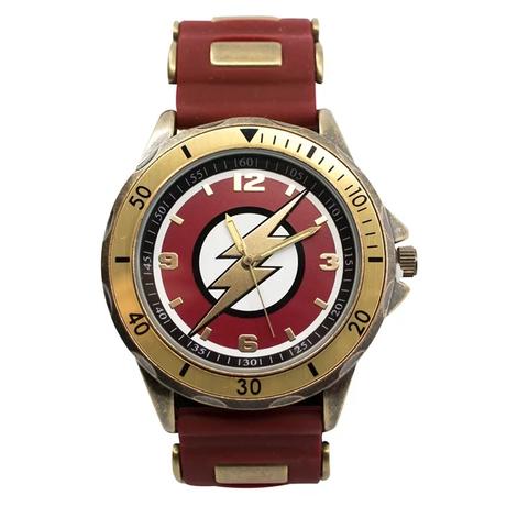 【USA直輸入】DCコミック フラッシュ TC シンボル FLASH シリコン アジャスターバンド リストウォッチ 腕時計 ロゴ 海外ドラマ 正規ライセンス  DC
