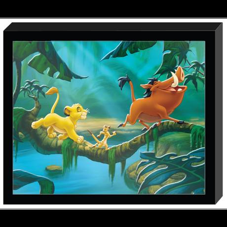 【USA直輸入】Disney The Lion King ライオンキング モルデット シャドウ ボックス ウォールアート ポスター 額付き 看板 シンバ ティモン プンバァ