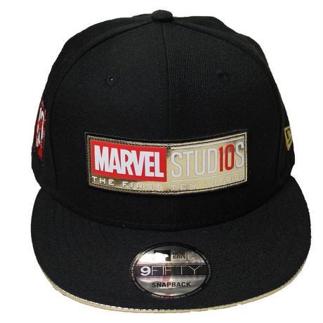 【USA直輸入】MARVEL マーベルスタジオ スタジオ10周年記念  10th annvarsary ロゴ 9Fifty キャップ  ニューエラ NEWERA ベースボールキャップ 帽子 マーベル
