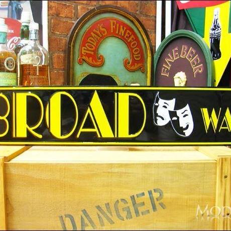 アメリカン ブリキ看板  ブロードウェイ通り ブロードウェイ 看板