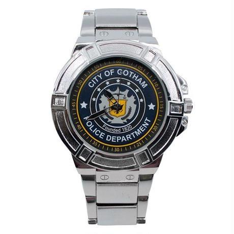 【USA直輸入】DCコミックス バットマン ゴッサムシティ ゴッサム市警察 シンボル ロゴ リストウォッチ メタルバンド 腕時計 正規ライセンス GCPD   ゴッサム ポリス DC Batman