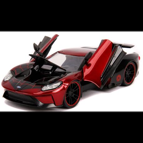 【USA直輸入】MARVEL スパイダーマン マイルス・モラレス  2017 Ford GT フォード ダイキャストカー Jada  1:24スケール ミニカー  フィギュア付き マーベル