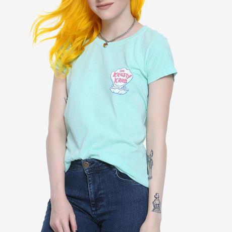 【USA直輸入】スポンジボブ クラスティ クラブ レディース Tシャツ カニカーニー The Krusty Krab カーニバーガー スポンジ・ボブ SpongeBob ニコロデオン
