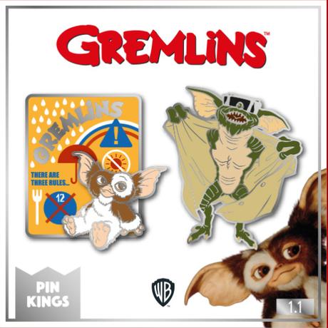【USA直輸入】Gremlins グレムリン PIN KINGS  ピン キング 1.1 エナメルピンバッジ  2個セット ギズモ ストライプ モグアイ バッジ ピンズ