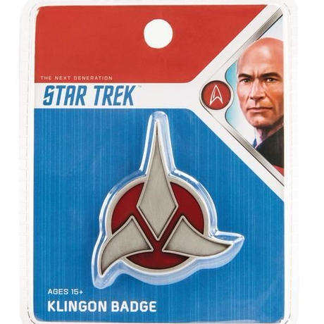 【USA直輸入】スタートレック 新スタートレック クリンゴン マグネット式 エンブレム バッヂ   Star Trek Klingon TNG ロゴ Qmx