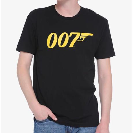 【USA直輸入】007 ジェームズ ボンド 年号 Tシャツ 映画 スパイ ダブルオーセブン  ノー・タイム・トゥ・ダイ