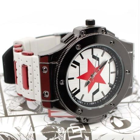 【USA直輸入】MARVEL ウィンターソルジャー バッキ― アーマー リストウォッチ 腕時計 マーベル 正規ライセンス   キャプテンアメリカ