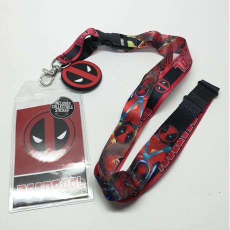 【USA直輸入】MARVEL デッドプール ラバー ロゴ キーチェーン ランヤード ネックストラップ デップ Deadpool マーベル IDホルダー
