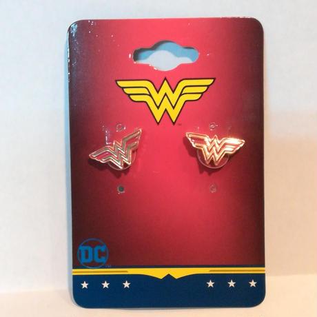 【USA直輸入】DC ワンダーウーマン ロゴ ゴールド&レッド ダイカット ピアス アクセサリー DCコミックス   ジャスティスリーグ