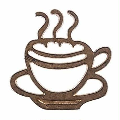 【USA直輸入】Coffee Cup コーヒー カップ トライベット  鍋敷き カットアウト メタルサイン ウォールデコ  ブリキ看板 看板 カフェ インテリア ディスプレイ