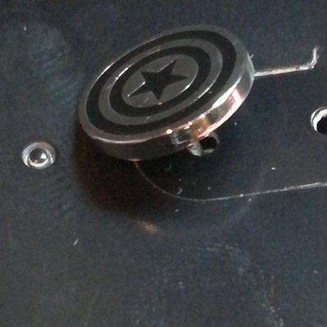 【USA直輸入】MARVEL キャプテンアメリカ シールド ロゴ エナメル ピアス アクセサリー マーベル