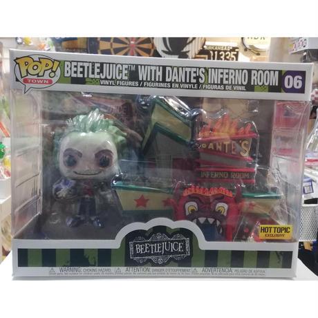 【USA直輸入】POP!  Town : Beetlejuice ビートルジュース & DANTE'S INFERNO ROOM  06 ポップ FUNKO フィギュア ダンテズインフェルノルーム
