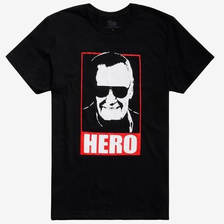 【USA直輸入】MARVEL Stan Lee Hero スタンリー ヒーロー Tシャツ マーベル 半袖 アベンジャーズ スタン リー