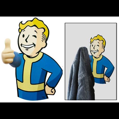 【USA直輸入】フォールアウト  Fallout 76  ボルトボーイ 3D コートフック 2個セット Vault-Tec ボルトボーイ Fallout  Vault  111 GAME