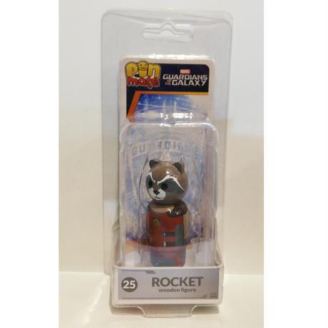 【USA直輸入】MARVEL Pin Mate ピン メイト 木製 フィギュア マーベル ガーディアンズオブギャラクシー ロケットラクーン Rocket Raccoon  25 2インチ  ロケット