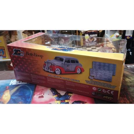 【USA直輸入】Betty Boop ベティブープ 1939 Chevy Master Deluxe シェビー マスター ダイキャストカー  Jada 20th 1/24インチ シボレー ベティ