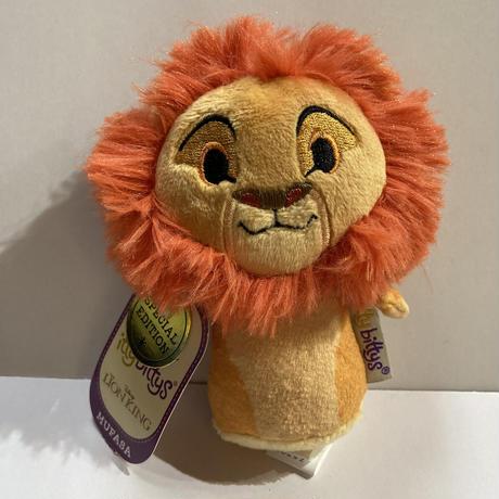 【USA直輸入】Disney ディズニー ライオンキング ムファサ Mufasa ぬいぐるみ ittybittys  約10cm hallmark イッティビッティズ ライオン・キング シンバ