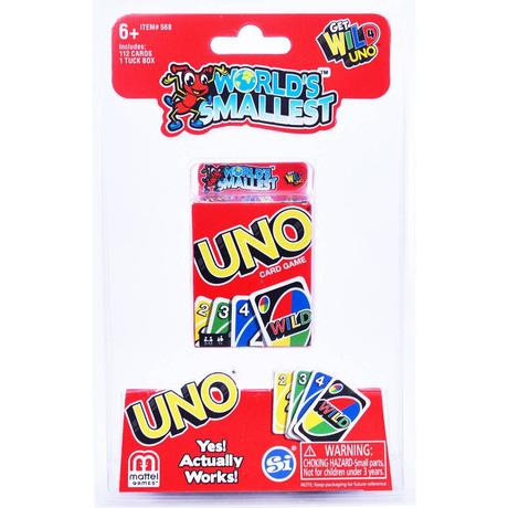 【USA直輸入】World's Smallest  ワールズ・スモーレスト UNO ウノ ミニ ミニチュア 玩具 おもちゃ ゲーム パズル カードゲーム クラシックゲーム