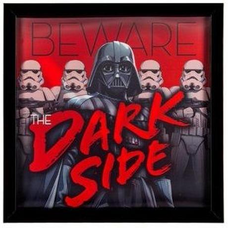 【USA直輸入】STARWARS スターウォーズ ダークサイド に用心 3D レンチキュラー ウォールデコ 看板  ポスター  壁掛け インテリア  Beware The Dark Side