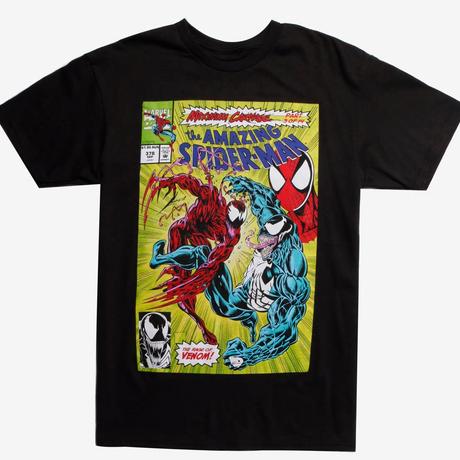 【USA直輸入】MARVEL ヴェノム マキシマム カーネイジ コミック カバー Tシャツ Mサイズ スパイダーマン ベノム マーベル Venom Maximum Carnage