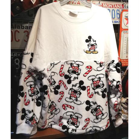 【USA直輸入】DISNEY ミッキーマウス ''Holiday Cheer'' モコモコ ドルマンスリーブ 長袖 シャツ スピリッツ ジャージ ディズニー ミッキー ホリデー