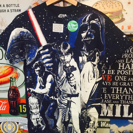【USA直輸入】STARWARS スターウォーズ グロー Tシャツ 蓄光 Sサイズ ダースベイダー レイア アナキン