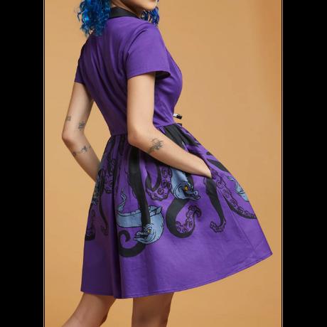 【USA直輸入】DISNEY ディズニー アースラ の 2匹のウツボ  フロットサム と ジェットサム 襟付き ワンピース ドレス ディズニー Dハロ ヴィランズ リトルマーメイド アースラー