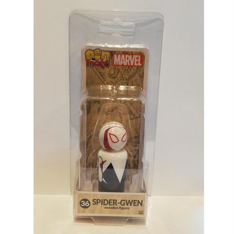 【USA直輸入】MARVEL Pin Mate ピン メイト 木製 フィギュア マーベル スパイダーグウェン Spider-Gwen 36 2インチ グウェン・ステイシー