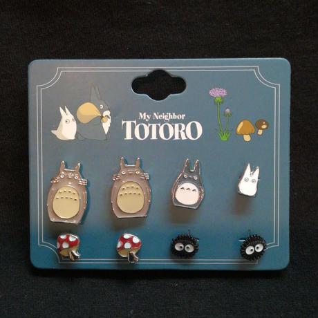 【USA直輸入】ジブリ となりのトトロ ピアス セット スタジオジブリ トトロ まっくろくろすけ アクセサリー
