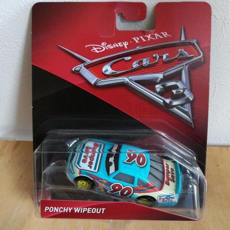 【USA直輸入】cars3 カーズ ポンチー ワイプアウト  (Bumper Save) マテル ミニカー CARS  ディズニー  Ponchy Wipeout
