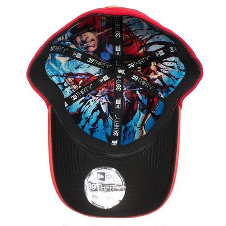 【USA直輸入】DC  フラッシュ フラッシュポイント ロゴ 裏地有り キャップ 39Thirty Fitted ニューエラ NEWERA ベースボール キャップ 帽子 DCコミックス FLASH