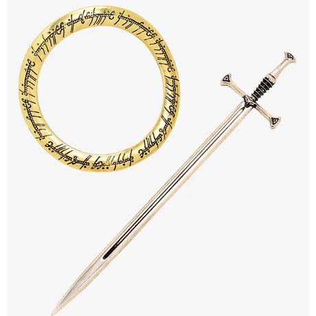 【USA直輸入】 ロードオブザリング 一つの指輪 & アンドゥリル へアークセサリー マジェステ 映画 指輪物語  指輪 ナルシル 折れたる剣 アンドリル