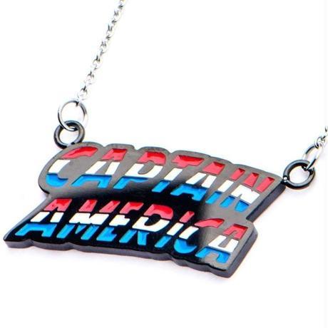 【USA直輸入】MARVEL キャプテンアメリカ 文字 ネックレス ペンダント マーベル アベンジャーズ  Captain America   ローマ字