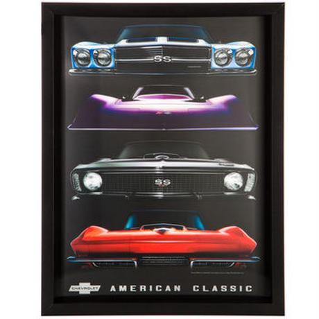 【USA直輸入】3D ウォールデコ アメリカン マッスルカー 看板   ポスター   American Muscle Cars