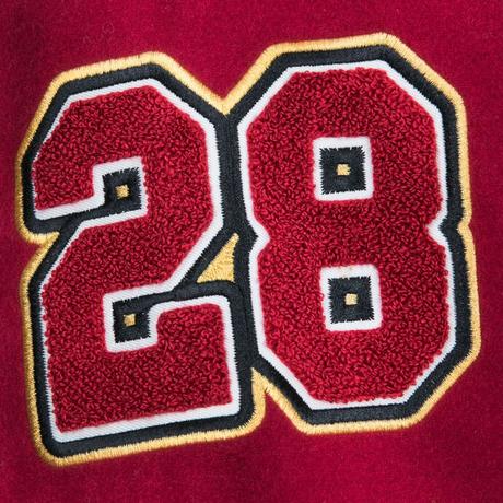 【USA直輸入】DISNEY ミッキーマウス & プルート 赤袖 バーシティジャケット 上着 アウター  ジャンパー  ジャケット スタジャン ディズニー ミッキー