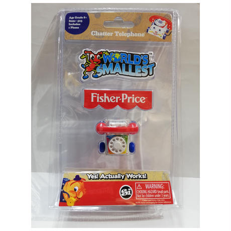 【USA直輸入】World's Smallest  ワールズ・スモーレスト チャッターフォン ミニ ミニチュア 玩具 おもちゃ ゲーム 電話機 フィッシャープライス