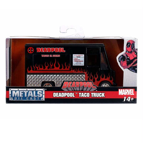 【USA直輸入】MARVEL デッドプール  タコ トラック 1:32スケール メタル ダイキャストカー マーベル デップ Deadpool