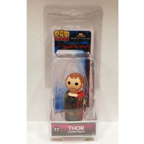 【USA直輸入】MARVEL Pin Mate ピン メイト 木製 フィギュア マーベル Thor: Ragnarok ソー ラグナロク ソー Thor 77 2インチ マイティソー